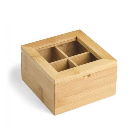 Cutie pentru ceai din bambus - Cadou sustenabil