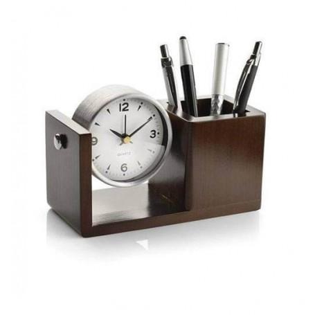 Ceas de birou cu suport de pixuri