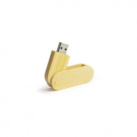 Stick USB din bambus